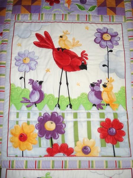 Детское лоскутное одеяльце «Птички»