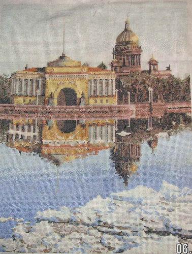 СХЕМА.  Петербург.  Вышивка крестом, схемы.