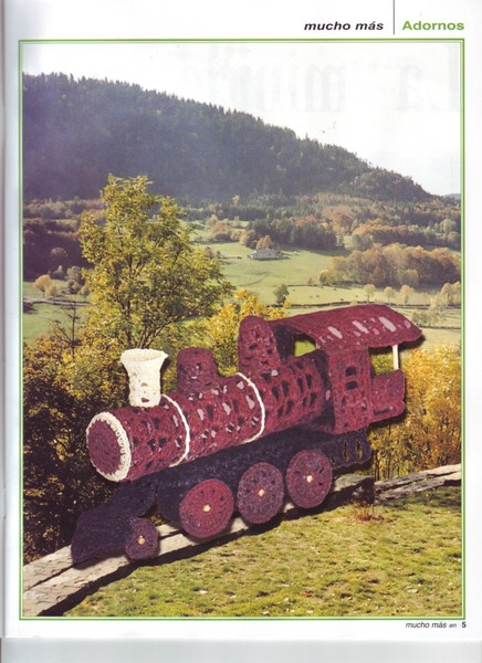схема вязания паровозика